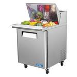"Turbo Air MST-28-12 - Mega Sandwich Prep Table - One Door 27-1/2"" W"