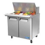 "Turbo Air MST-36-15 - Mega Sandwich Prep Table - Two Door 36-3/8"" W"