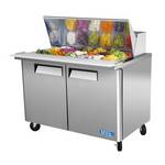 "Turbo Air MST-48-18 - Mega Sandwich Prep Table - Two Door 48-1/4"" W"