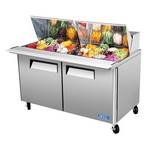 "Turbo Air MST-60-24 - Mega Sandwich Prep Table - Two Door 60-1/4"" W"