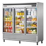 Turbo Air MSR-72G-3 Three Glass Door Reach-In Refrigerator