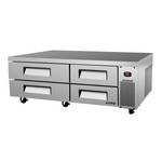 "Turbo Air TCBE-72SDR - Refrigerated Chef Base 72"" - Four Drawers"