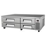 "Turbo Air TCBE-82SDR - Refrigerated Chef Base 83-5/8"" - Four Drawers"