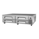 "Turbo Air TCBE-96SDR - Refrigerated Chef Base 96-3/8"" - Four Drawers"
