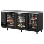 Turbo Air TBB-4SB - Back Bar Cooler - Three Glass Doors