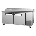 "Turbo Air TPR-67SD - Pizza Prep Table - Two Door - 67"" Wide"
