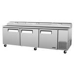 "Turbo Air TPR-93SD - Pizza Prep Table - Three Door - 93-3/8"" Wide"