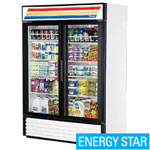 True GDM-49-LD - Two Swing Glass Door Cooler Merchandiser