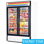 True GDM-49F-LD - Two Swing Glass Door Freezer Merchandiser
