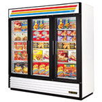 True GDM-72F-LD - Three Swing Glass Door Freezer Merchandiser