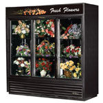 True GDM-69FC-LD-MIRRDBACK - Floral Cooler Merchandiser - Three Sliding