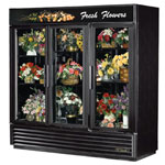 True GDM-72FC-LD - Refrigerated Floral Merchandiser - Three Swing Doors