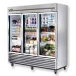 True T-72G - Refrigerator Reach-In - Three Glass Doors - Bottom Mount