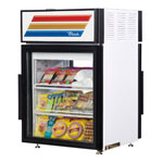 True GDM-5-PT-LD - Countertop Glass Door Refrigerator - Pass Thru