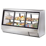 "True TDBD-96-6 - 96"" Double Duty Refrigerated Deli Display Case"