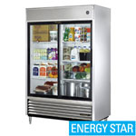 True TSD-47G-LD - Refrigerator Reach-In - Two Sliding Glass Doors