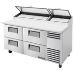 True TPP-67D-4 - Pizza Prep Table - Four Drawers
