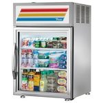 True GDM-5-S-LD - Countertop Glass Door Refrigerator