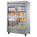 True TS-49G-4 - Refrigerator - Four Glass Half Doors - All Stainless