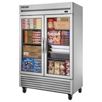 True TS-49FG - Freezer - Two Glass Doors - All Stainless Steel