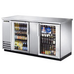 True TBB-3G-S-LD - Back Bar Cooler - Two Glass Swing Doors