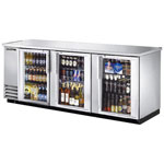 True TBB-4G-S-LD - Back Bar Cooler - Three Glass Swing Doors