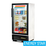 True GDM-10-LD - White Refrigerated Merchandiser - One Glass Door