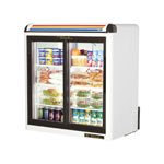 True GDM-9-WHITE-LD - Countertop Glass Door Refrigerator