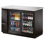 True TBB-24-48G-SD-LD - Back Bar Cooler - Two Sliding Glass Doors