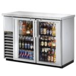 True TBB-24-48-G-S-LD - Back Bar Cooler - Two Glass Swing Doors
