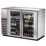True TBB-24GAL-48G-S-LD - Back Bar Cooler - Two Glass Swing Doors