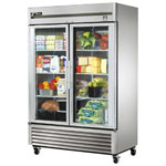 True TS-49G - Refrigerator Reach-In - Two Glass Doors - Bottom Mount