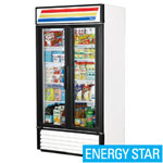 True GDM-35-LD - Two Swing Glass Door Cooler Merchandiser