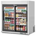 True GDM-9-S-LD - Countertop Glass Door Refrigerator - Stainless