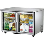 True TUC-48G - Undercounter Refrigerator - Two Glass Doors