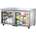 True TUC-60G - Undercounter Refrigerator - Two Glass Doors
