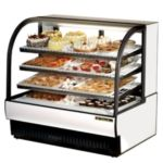 "True TCGR-50 - 50"" Curved Glass Refrigerated Display Case"