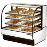 True TCGD-50 - Non-Refrigerated Curved Glass Display Case - 50-7/8""