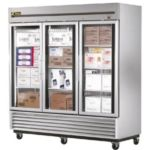 True TS-72FG - Freezer - Three Glass Doors - All Stainless Steel