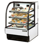 "True TCGR-31 - 32"" Curved Glass Refrigerated Display Case"