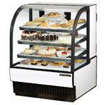 "True TCGR-36 - 37"" Curved Glass Refrigerated Display Case"