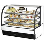 "True TCGR-59 - 60"" Curved Glass Refrigerated Display Case"