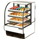 "True TCGD-31 - 31-7/8"" Non-Refrigerated Curved Glass Display Case"