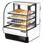 "True TCGD-36 - 36-7/8"" Non-Refrigerated Curved Glass Display Case"