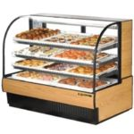 "True TCGD-59 - 59-7/8"" Non-Refrigerated Curved Glass Display Case"