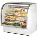 "True TCGG-48 - 48"" Curved Glass Refrigerated Display Case"