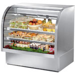"True TCGG-48-S - 48"" Curved Glass Refrigerated Display Case"