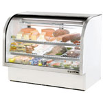 "True TCGG-60 - 60"" Curved Glass Refrigerated Display Case"