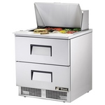 True TFP-32-12M-D-2 - Mega Top Sandwich Prep Table - Two Drawers