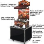 Vollrath 37028 - Twin Soup Merchandiser with Dispenser Base